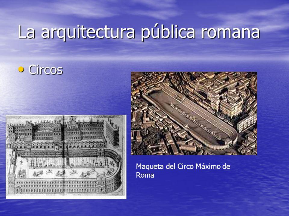 La arquitectura pública romana Circos Maqueta del Circo Máximo de Roma