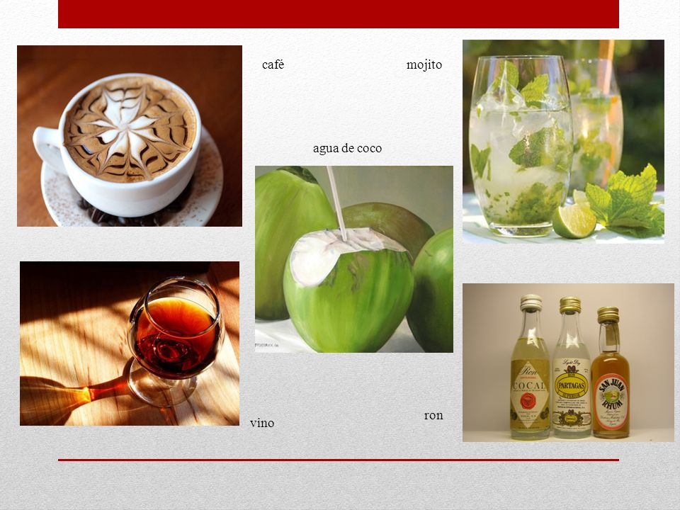 cafémojito agua de coco vino ron