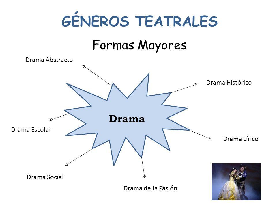 GÉNEROS TEATRALES Formas Mayores * Tragicomedia * Auto sacramental