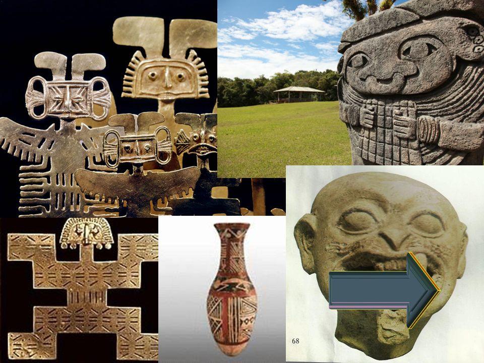 Alfarería En la elaboración de la cerámica emplearon el sistema de moldes de arcilla, con lo cual reproducían en serie las figuras que deseaban.