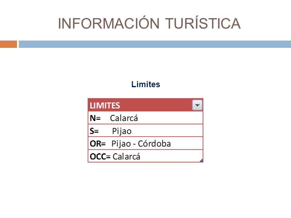 INFORMACIÓN TURÍSTICA Limites