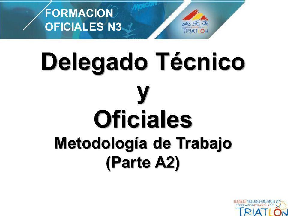 Delegado Técnico y Oficiales Metodología de Trabajo (Parte A2) FORMACION OFICIALES N3