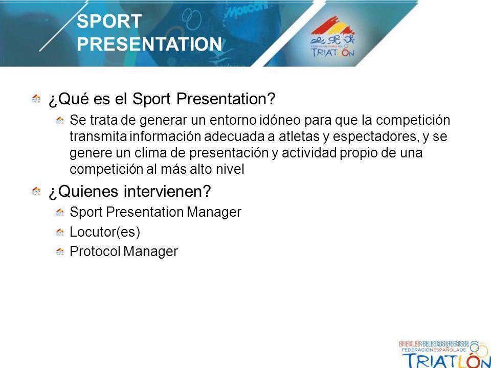 ¿Qué es el Sport Presentation.