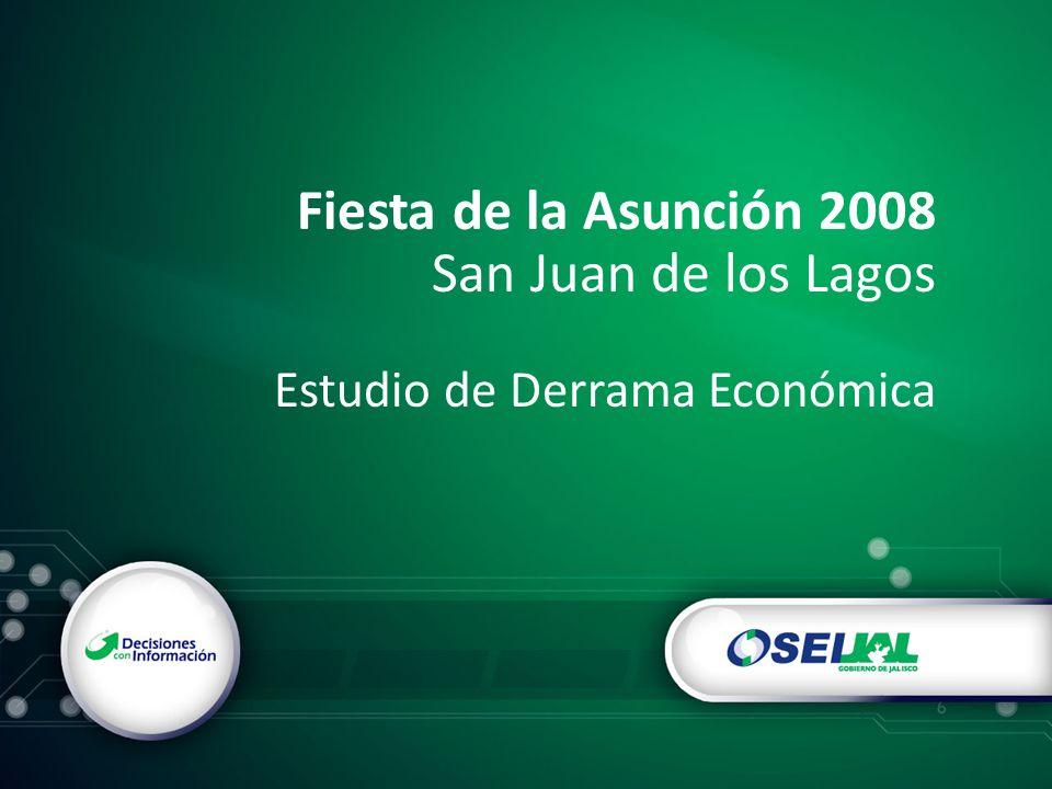 Fiesta de la Asunción 2008 San Juan de los Lagos Estudio de Derrama Económica