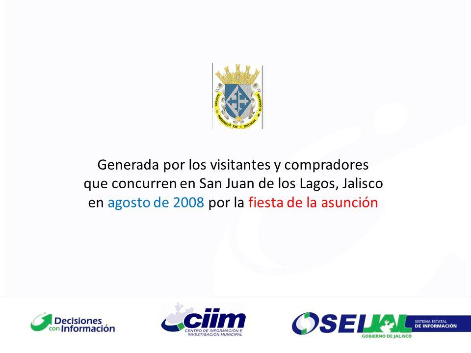 Generada por los visitantes y compradores que concurren en San Juan de los Lagos, Jalisco en agosto de 2008 por la fiesta de la asunción