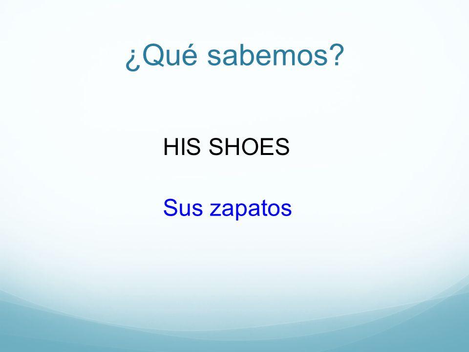 ¿Qué sabemos HIS SHOES Sus zapatos