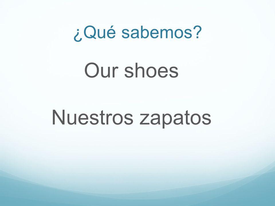 ¿Qué sabemos Our shoes Nuestros zapatos