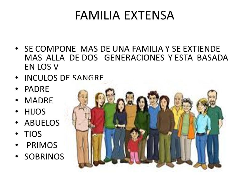 Familia Natural e Extensa Familia Extensa se Compone Mas