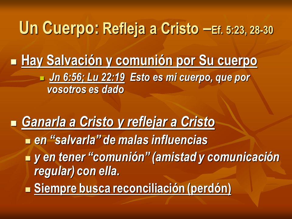 Un Cuerpo: Refleja a Cristo – Ef.