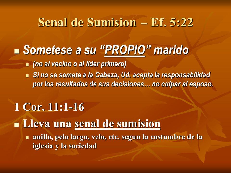 Senal de Sumision – Ef.