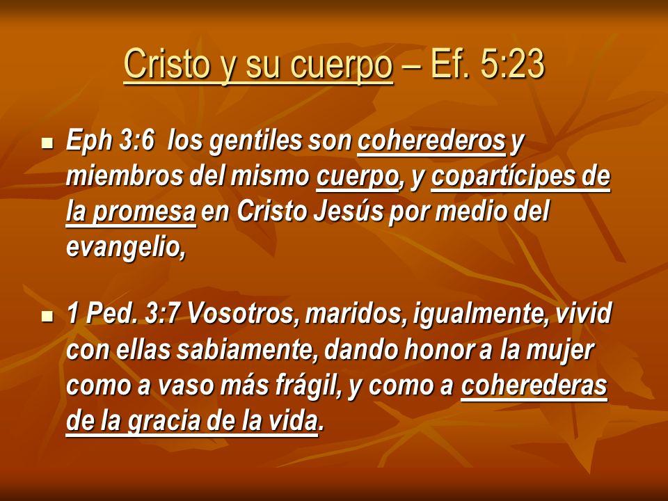 Cristo y su cuerpo – Ef.