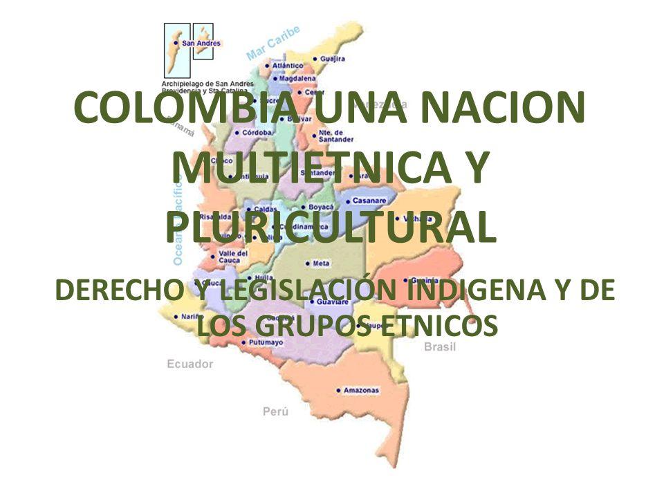 COLOMBIA UNA NACION MULTIETNICA Y PLURICULTURAL DERECHO Y LEGISLACIÓN INDIGENA Y DE LOS GRUPOS ETNICOS