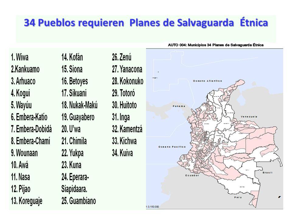 34 Pueblos requieren Planes de Salvaguarda Étnica