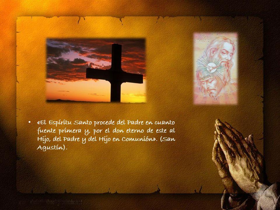 Tercera persona de la Santísima Trinidad. Nos ha sido enviado por el Padre para fortalecer nuestra vida, reunirnos como familia y dar sentido a nuestr