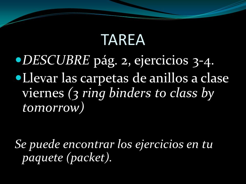 TAREA DESCUBRE pág. 2, ejercicios 3-4.
