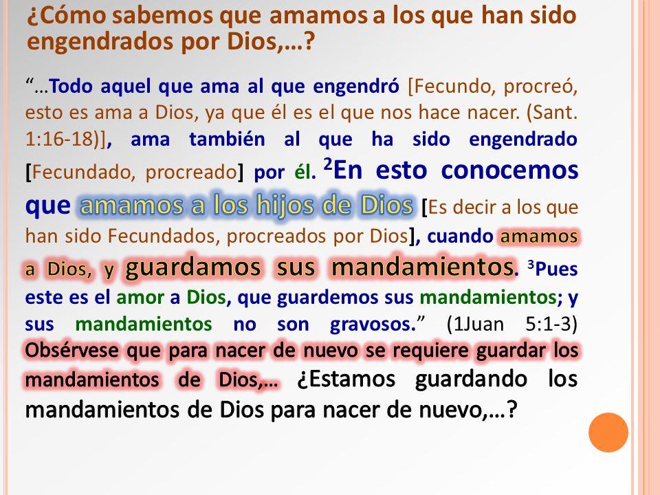 ¿Cómo sabemos que amamos a los que han sido engendrados por Dios,…?