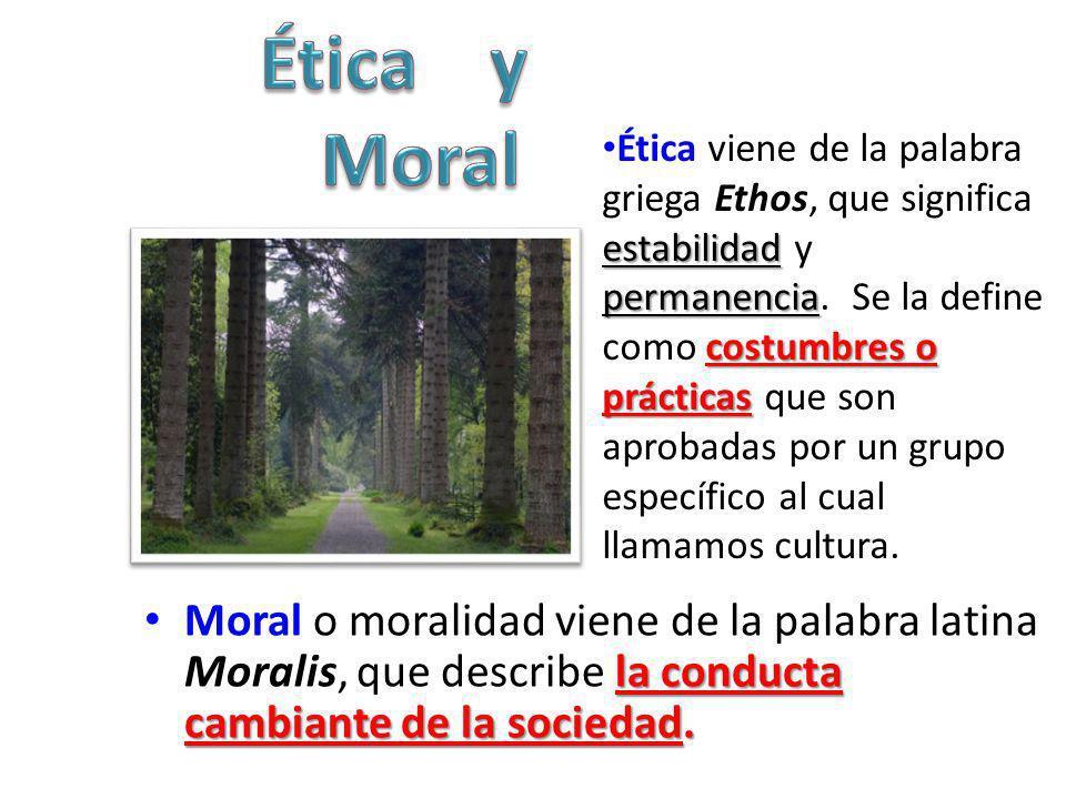 Ética Moral Ética conjunto de normas y definen nuestros deberes y obligaciones debe La Ética es normativa, es absoluta.