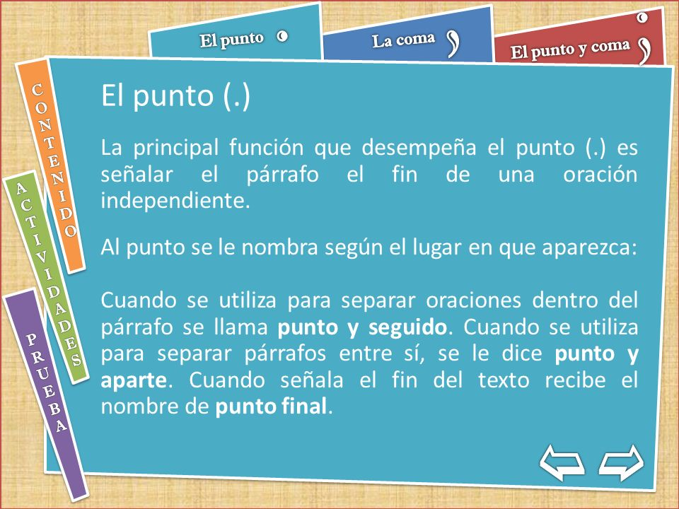 Evaluación de Signos de puntuación Escribe el texto nuevamente en la parte inferior, usando los signos de puntuación de modo adecuado.