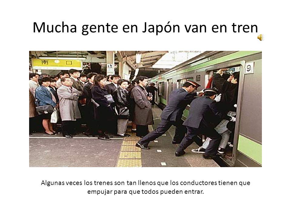 Japón tiene trenes de alta velocidad Bullet Trains (en inglés), Tren Bala (en español) o Shinkansen (en japonés)