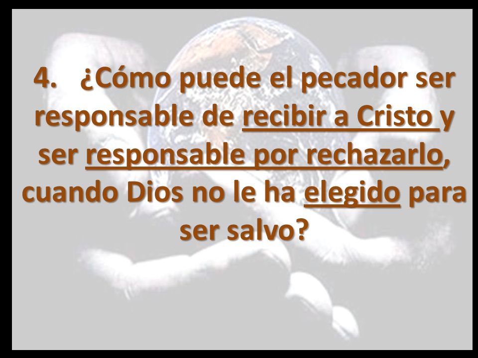 Primero… ¿Cómo puede Dios detener a algunos hombres de hacer lo que ellos quieren e impulsar a otros a hacer lo que no quieren, y al mismo tiempo preservar su responsabilidad?
