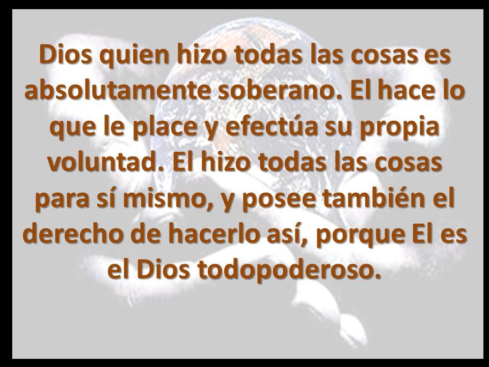 Pero Dios no solo hizo todas las cosas por su propio poder soberano, sino que también gobierna todo.