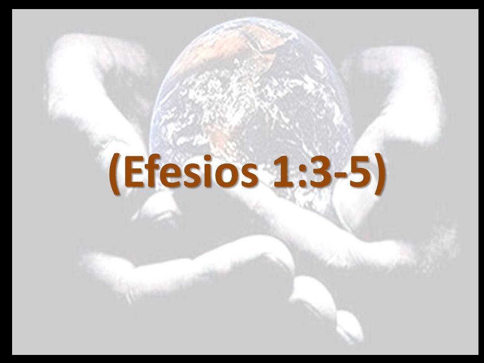 v.3 Bendito sea el Dios y Padre de nuestro Señor Jesucristo, que nos bendijo con toda bendición espiritual en los lugares celestiales en Cristo, v.4 según nos escogió en él antes de la fundación del mundo, para que fuésemos santos y sin mancha delante de él,