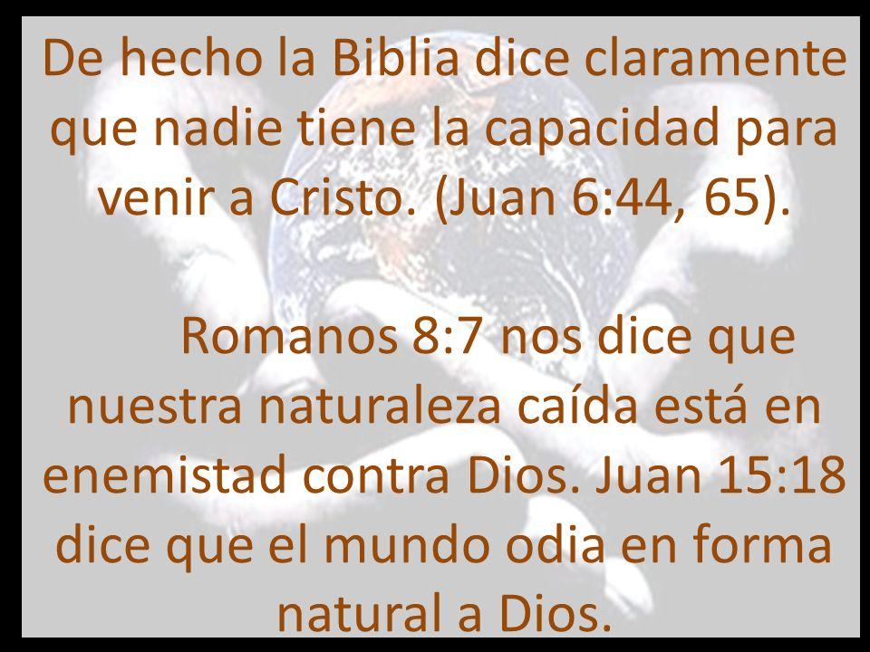 nuestras voluntades no son realmente libresNo nuestra voluntad es esclava de otras cosas Está claro entonces, que la Biblia dice que nuestras voluntades no son realmente libres.