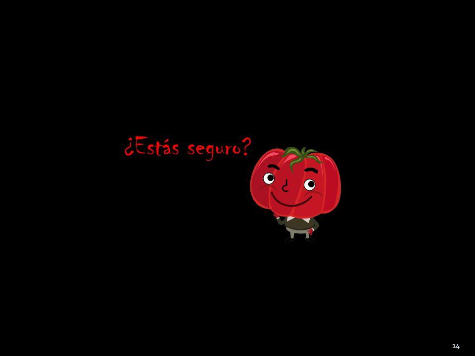 Repaso: Cierto o Falso La gente tiene todo al día para la lucha de Tomatina CIERTO FALSO 13