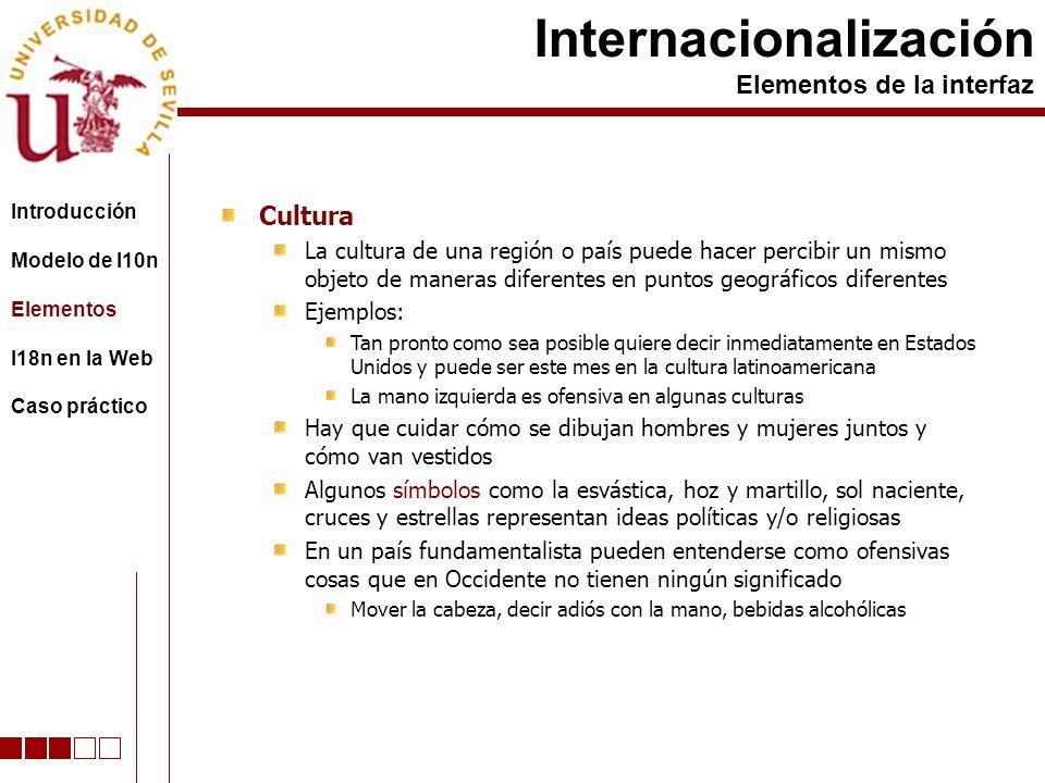 Cultura La cultura de una región o país puede hacer percibir un mismo objeto de maneras diferentes en puntos geográficos diferentes Ejemplos: Tan pron