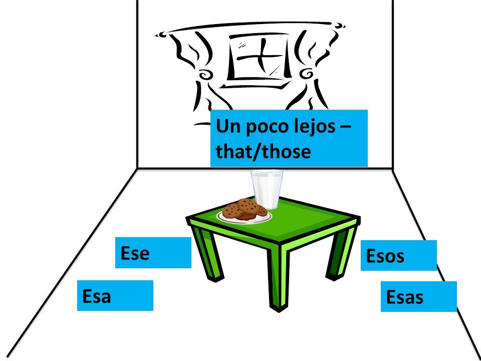Un poco lejos – that/those Ese Esa Esos Esas