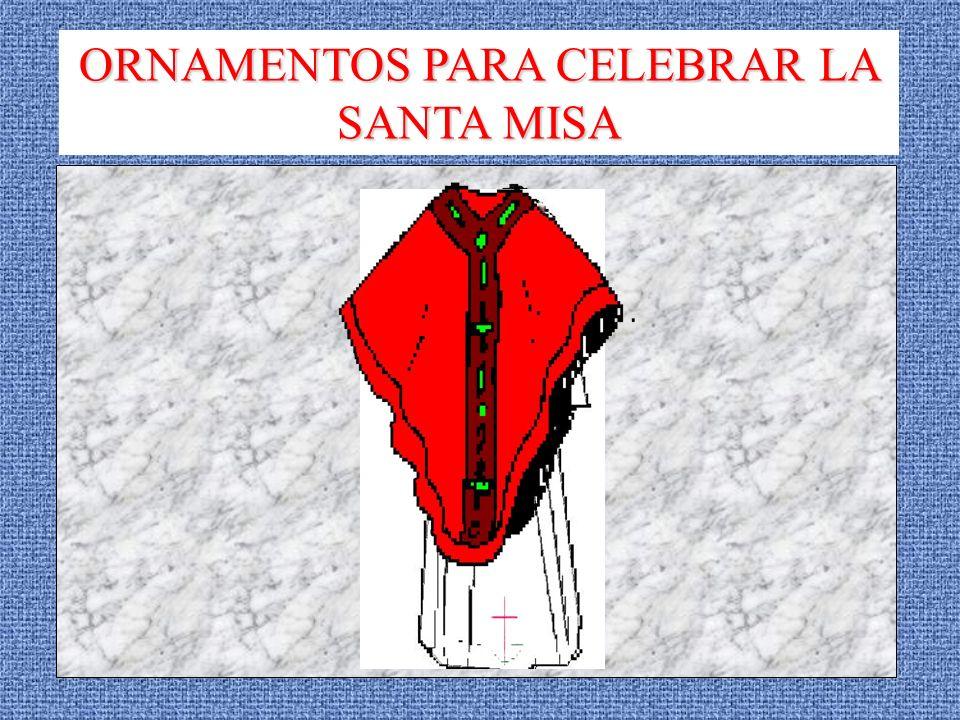 EL AMITO Es un trozo de tela blanca que se pone el sacerdote alrededor del cuello para celebrar la Misa y que se sujeta con dos cintas que se entrecruzan en el pecho Mientras se pone el Amito en torno al cuello el sacerdote, en silencio, se prepara para celebrar la Santa Misa
