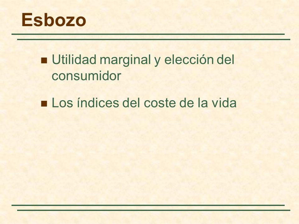 Esbozo Utilidad marginal y elección del consumidor Los índices del coste de la vida