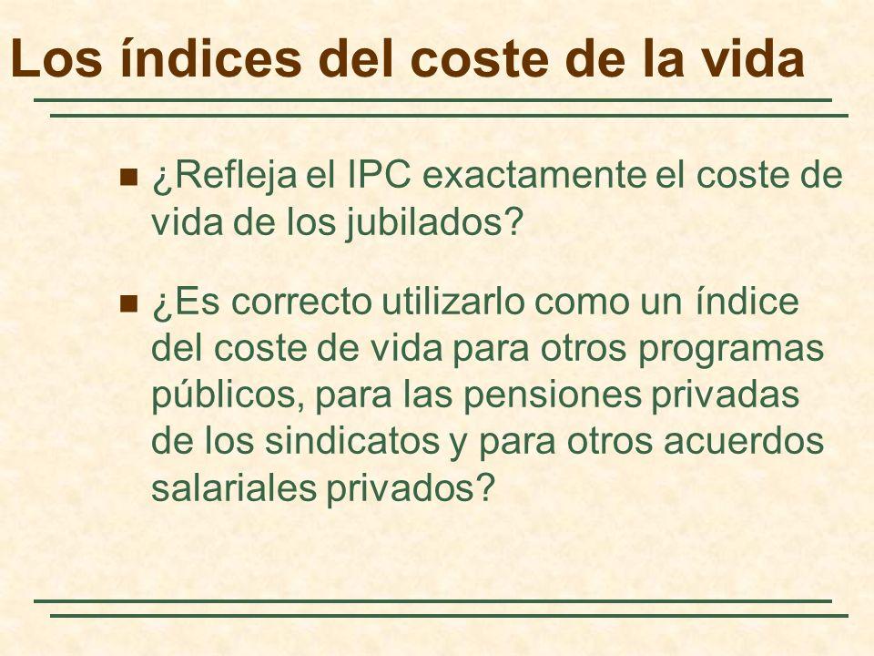 ¿Refleja el IPC exactamente el coste de vida de los jubilados.