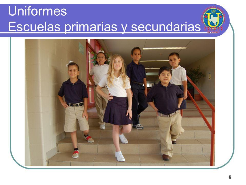 6 Uniformes Escuelas primarias y secundarias