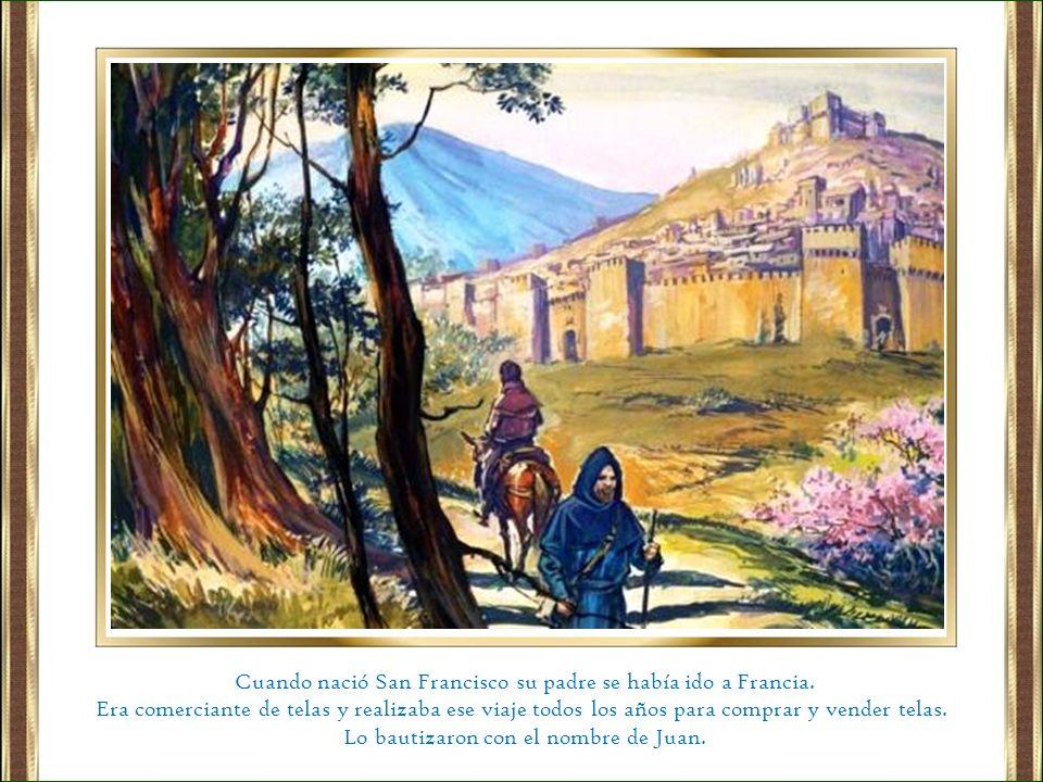 Un señor de Asís llamado Bernardo le hospedó un día en su casa.