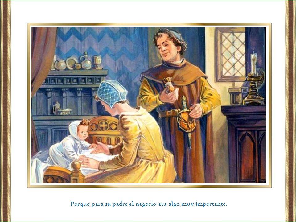 Bernardo siguió el evangelio al pie de la letra y dio todos sus bienes a los pobres.