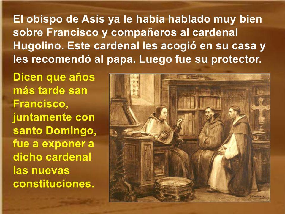 Cuando los hermanos fueron doce, Francisco redactó una regla, que prácticamente se componía de consejos evangélicos. Y se fueron a Roma, a pie, cantan