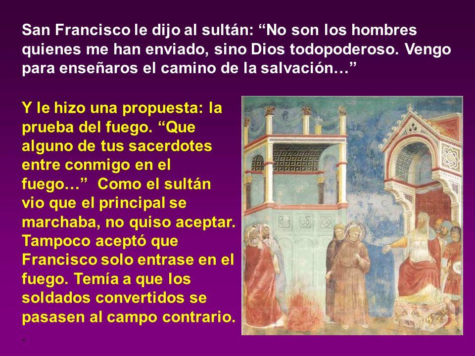 San Francisco sufrió mucho al ver en Oriente las malas costumbres de los soldados de las cruzadas. Y, como quería morir mártir, buscando predicar a lo