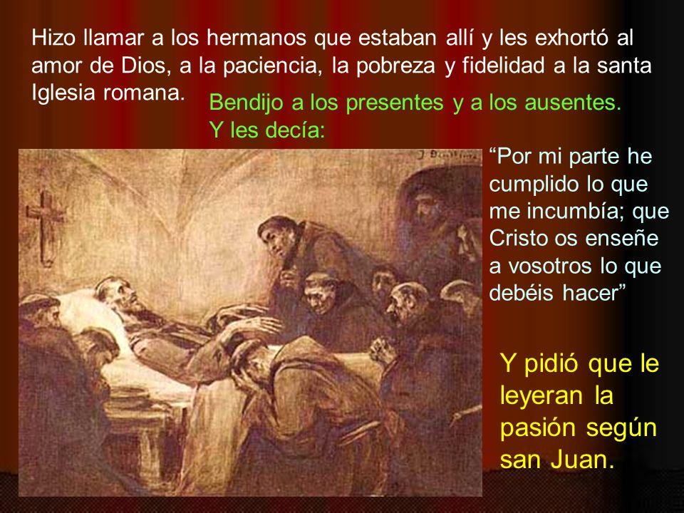Quiso san Francisco que viniera a despedirse Jacoba de Settesoli, una dama, a quien apreciaba por los bienes que les hacía a los hermanos. Ella llegó