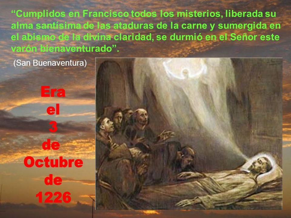 Hizo llamar a los hermanos que estaban allí y les exhortó al amor de Dios, a la paciencia, la pobreza y fidelidad a la santa Iglesia romana. Y pidió q