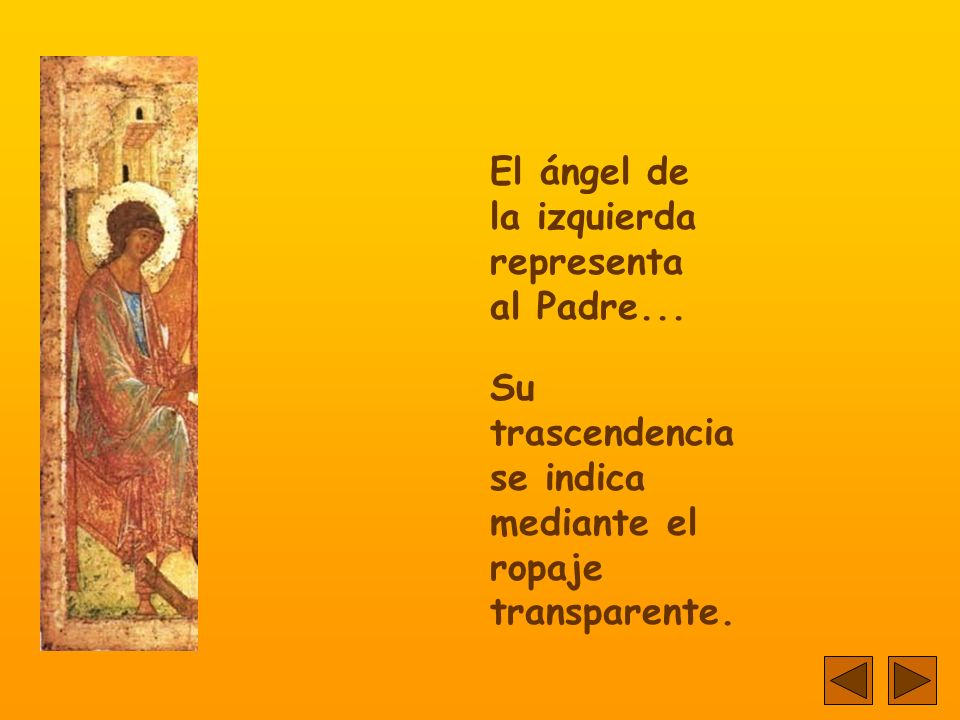 En realidad, los ángeles no son ángeles...Son las tres Personas de la Santísima Trinidad.