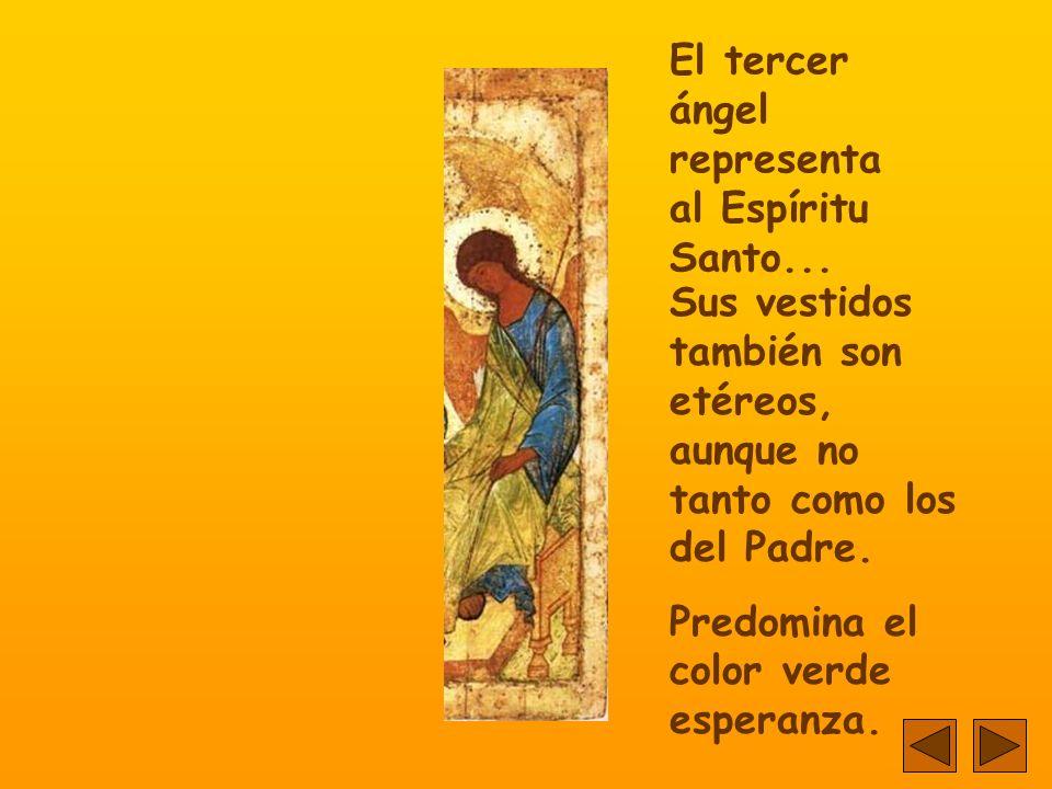 Este ángel representa al Hijo...Su ropa no es transparente...