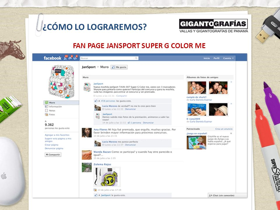 ¿CÓMO LO LOGRAREMOS? FAN PAGE JANSPORT SUPER G COLOR ME