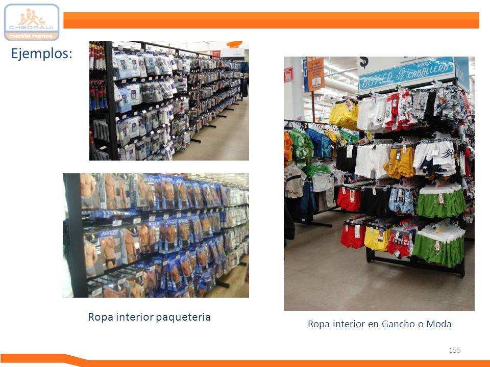 155 Ejemplos: Ropa interior paqueteria Ropa interior en Gancho o Moda