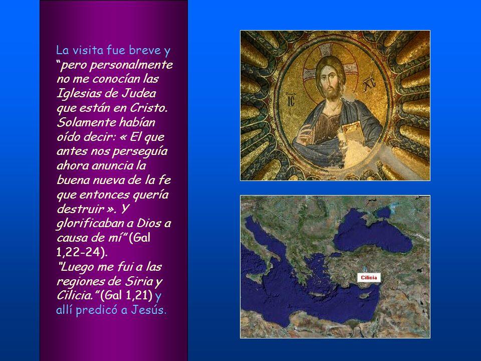 En Jerusalén predicó a sus antiguos compañeros judíos que Jesús es el Mesías y fue perseguido por ellos. Habiendo vuelto a Jerusalén y estando en orac