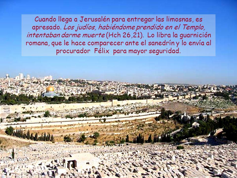 Ahora voy a Jerusalén para el servicio de los santos, pues Macedonia y Acaya tuvieron a bien hacer una colecta en favor de los pobres de entre los san