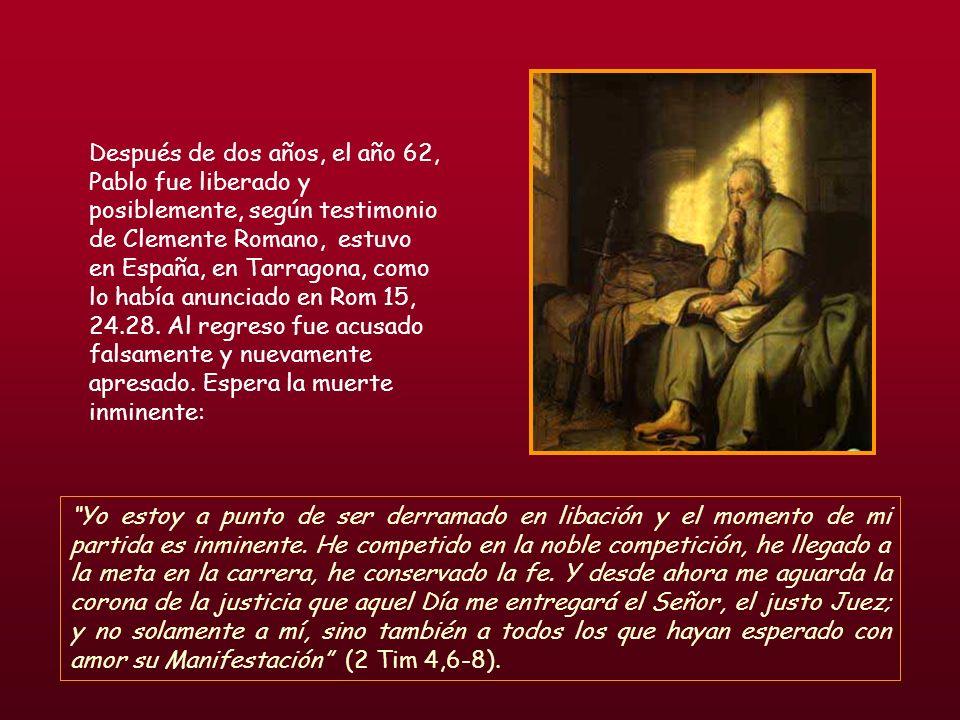 Una vez reunidos, les dijo: « Hermanos, yo, sin haber hecho nada contra el pueblo ni contra las costumbres de los padres, fui apresado en Jerusalén y