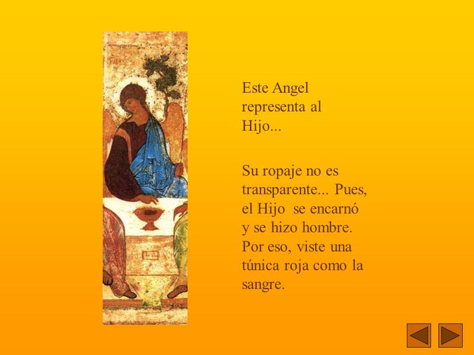 El Angel de la izquierda representa al Padre...