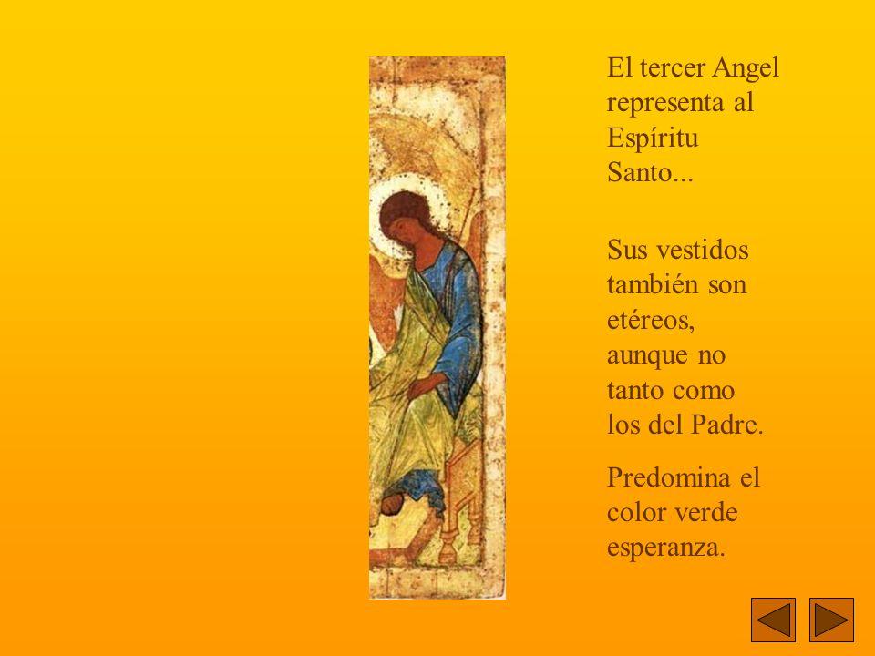 Este Angel representa al Hijo... Su ropaje no es transparente...