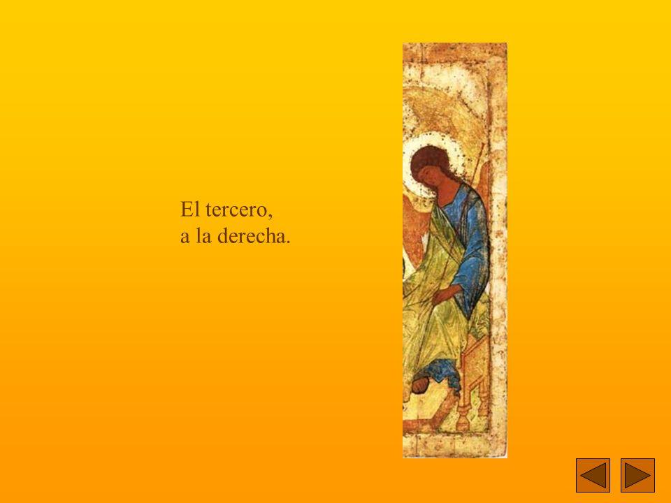 El segundo Angel aparece en el centro del ícono.